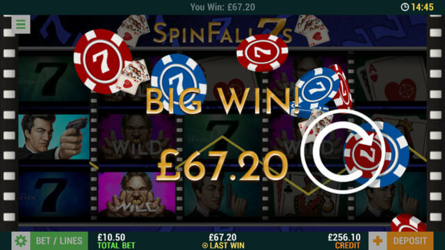 SpinFall 7s (Mobile Slots) game image at mfortune Casino
