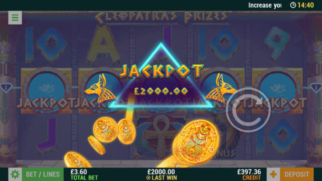 Cleopatra's Prizes (Mobile Slots) game image at mfortune Casino