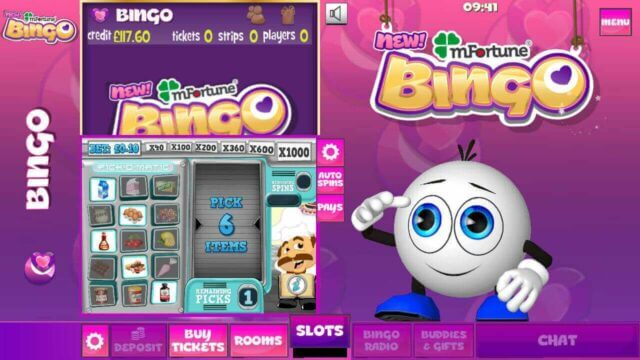 mFortune Bingo mobile slots screenshot