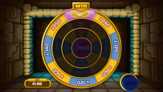 Tomb of the Wins mobile slots by mFortune Casino mini-game screenshot