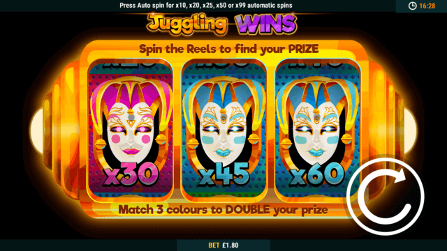Juggling Jokers mobile slots game image at mfortune Casino