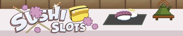 Sushi Slots mobile slots by mFortune Casino game logo