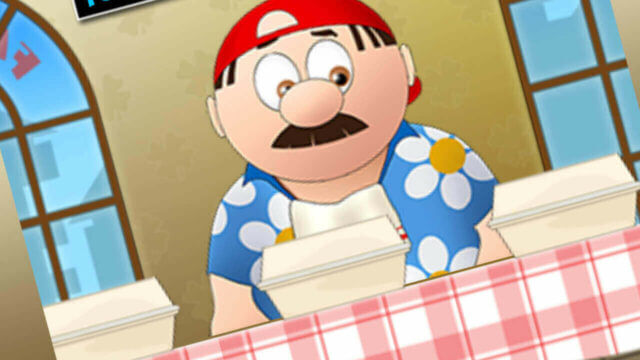 Burger Man mobile slots mini-game