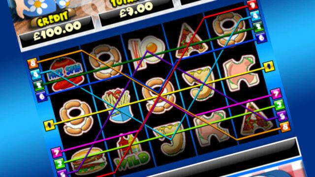 Burger Man mobile slots win lines