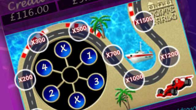 Monte Carlo mobile slots mini-game screenshot