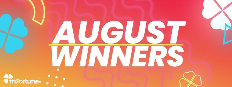 August's Biggest Slots Winners