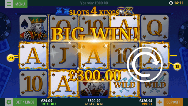 Slots 4 Kings (Mobile Slots) game image at mfortune Casino