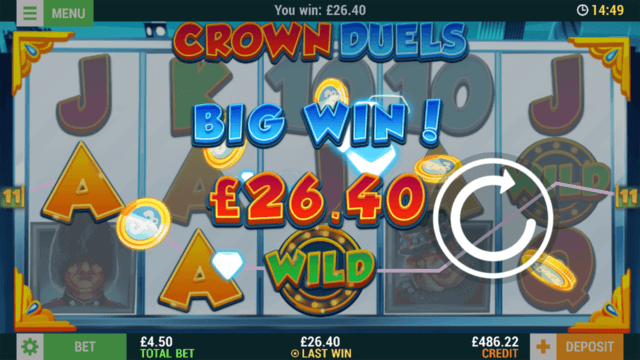 Crown Duels mobile slots by mFortune Casino