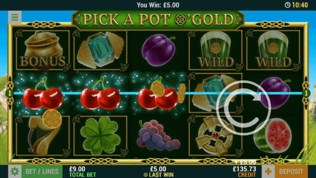 Pick A Pot O'Gold (Mobile Slots) game image at mfortune Casino