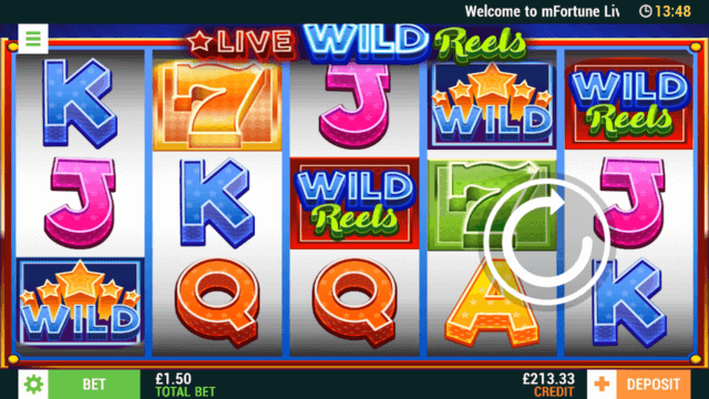 Live Wild Reels (Mobile Slots) game image at mfortune Casino