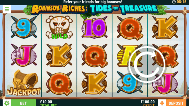 Robinson Riches: Tides of Treasure (Mobile Slots) game image at mfortune Casino