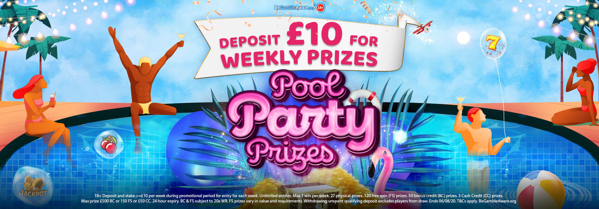 WEEKLY Pool Party Prizes available at mFortune!